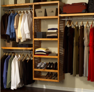 WOODEN SHELVES/WARDROBE